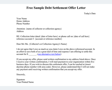Debt letter template 10 samples for word pdf spiritdancerdesigns
