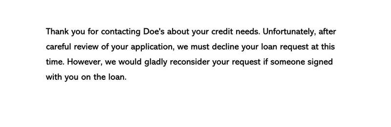 Decline a Credit Request Letter 01