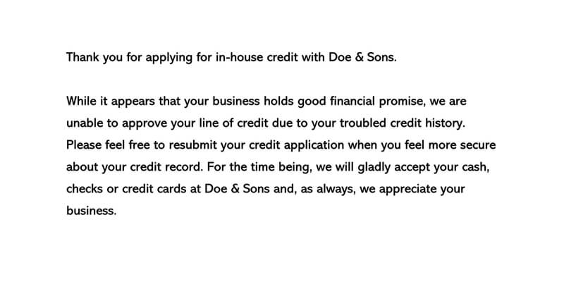 Decline a Credit Request Letter 03