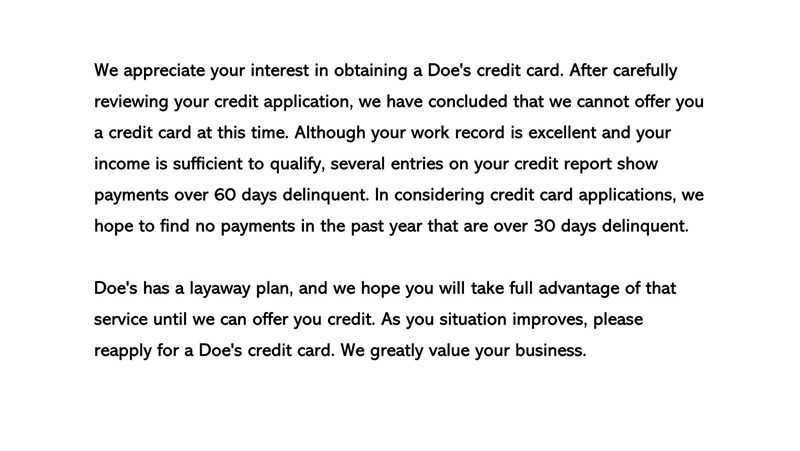 Decline a Credit Request Letter 04