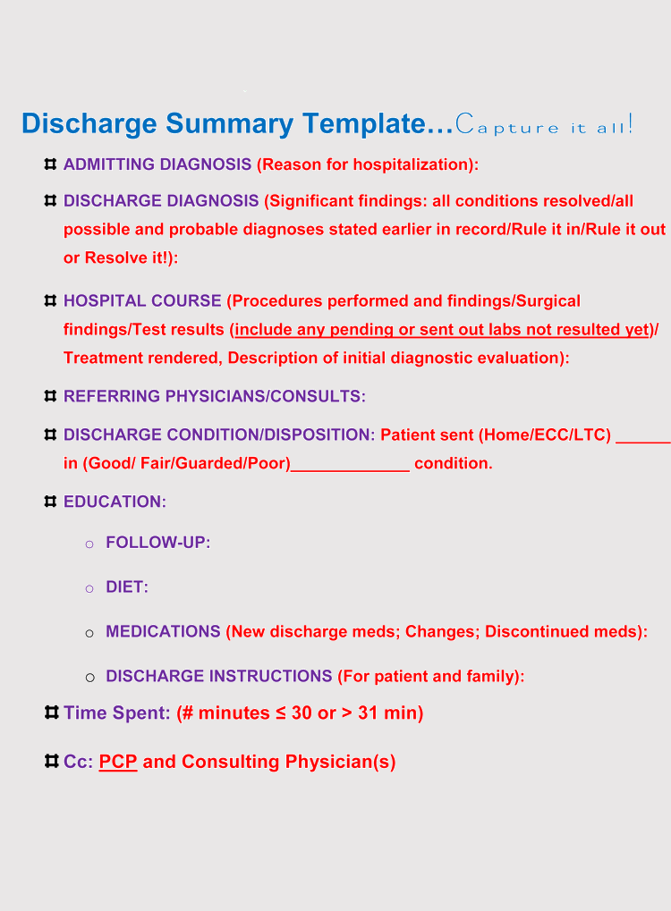 Discharge Summary From Hospital
