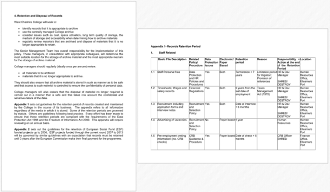 5 document retention policy samples for word and pdf for Student retention plan template