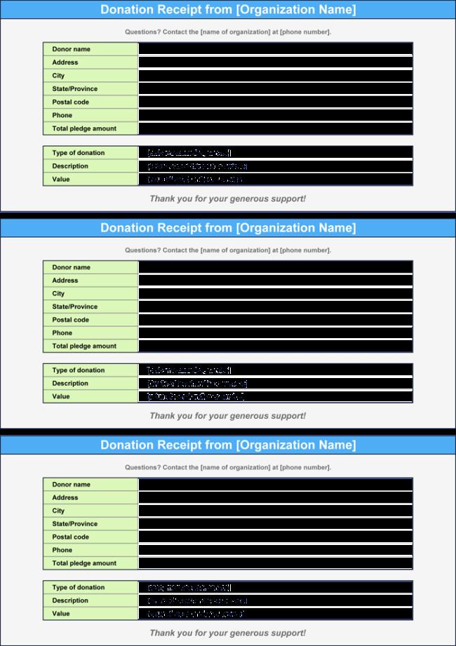 Donation Receipt Template 3 Best Donation Receipt Formats – Receipt Formats
