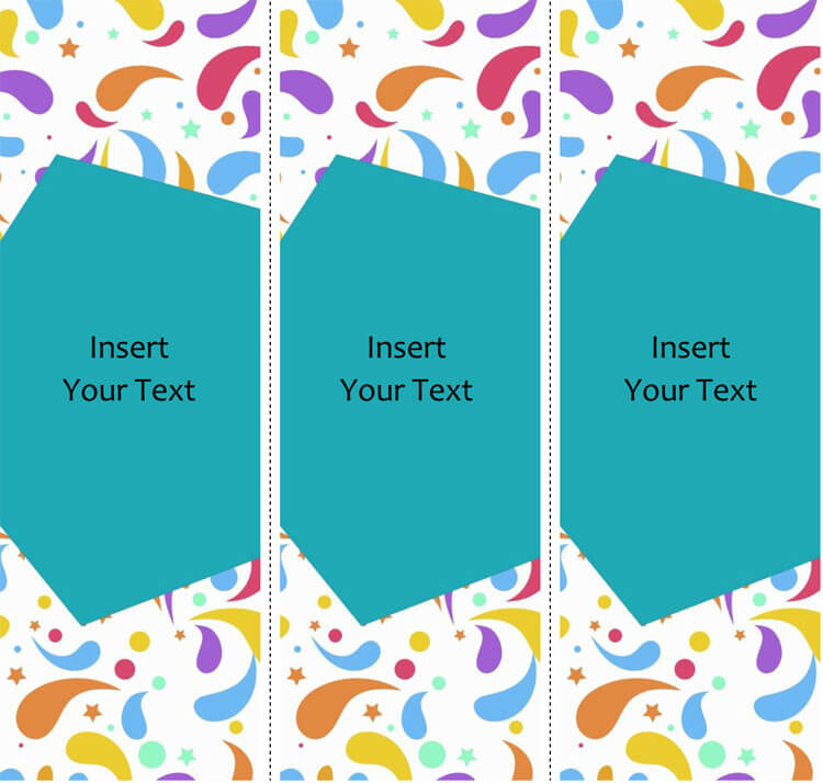 Editable blank bookmark template