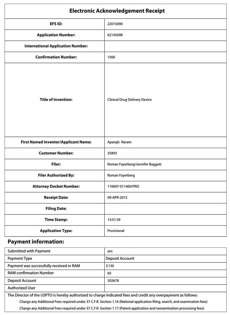 Electronic Acknowledgement Receipt