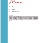 Elegant Design Memo Template for Word