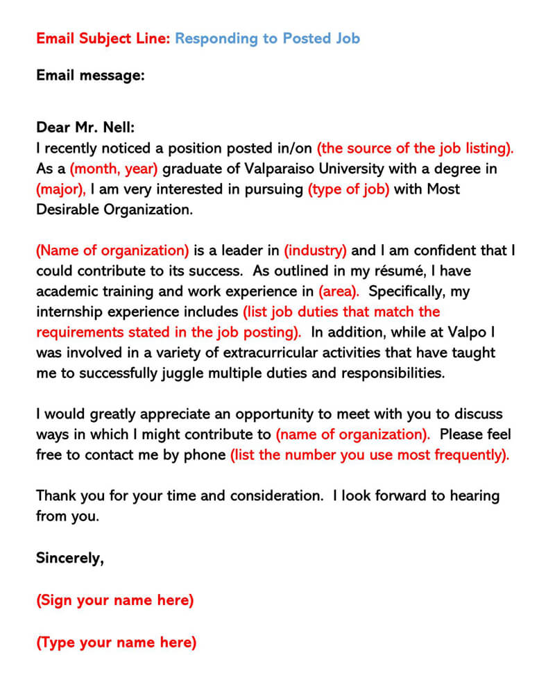 Sample Email Cover Letters Examples How To Write And Send