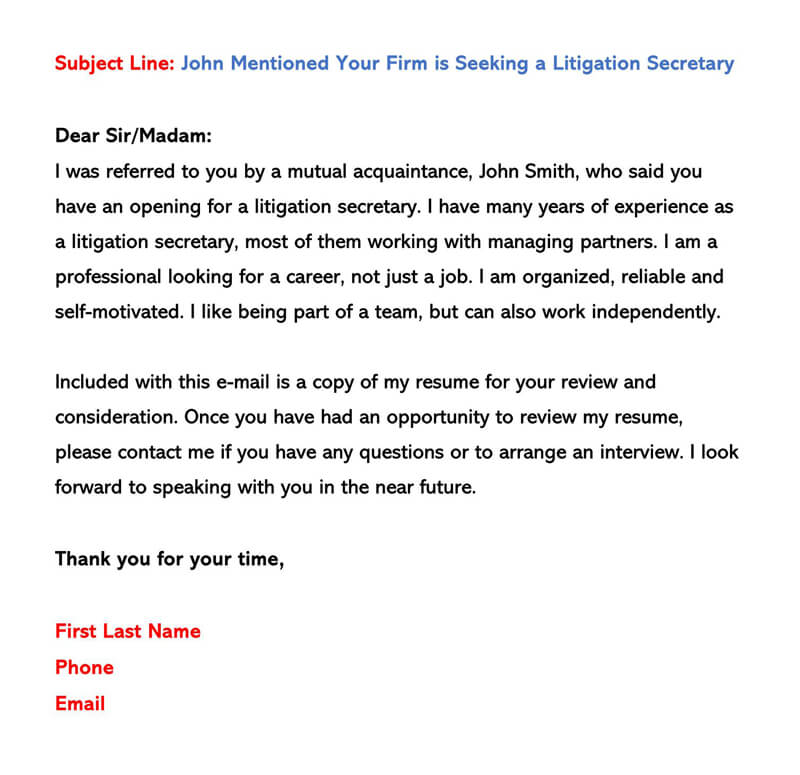 Sample Email Cover Letters amp Examples How to Write and Send