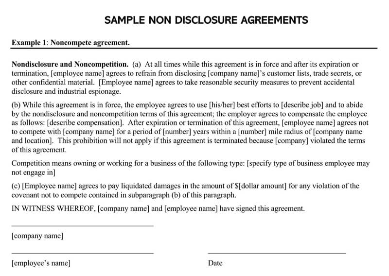Employee-Non-Disclosure-Agreement-Template