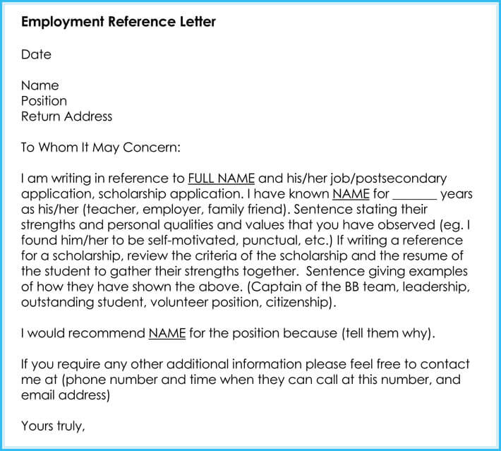Employment Recommendation Letter Samples from www.wordtemplatesonline.net