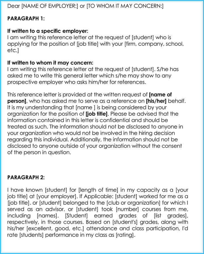 sample employment reference letters  u0026 professional writing