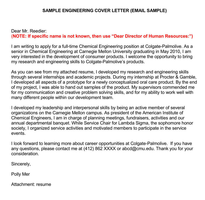 Sample Email Cover Letters & Examples (How to Write and Send)