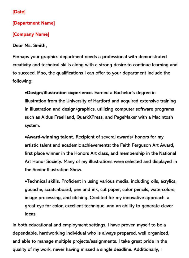 Entry Level Graphic Designer Letter