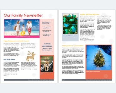 Family Newsletter Template 3 Printable Layouts