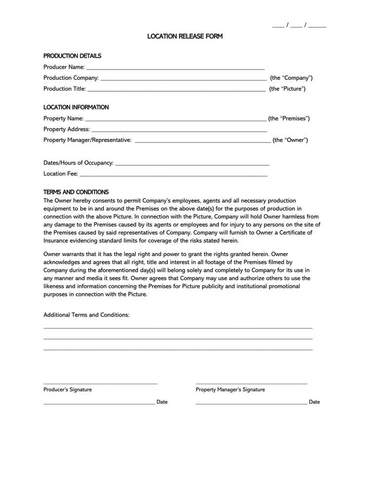 Film Location Release Form 27