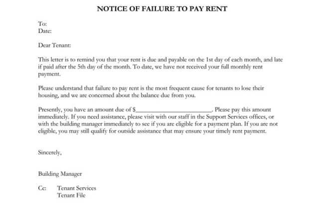 final notice for outstanding payment