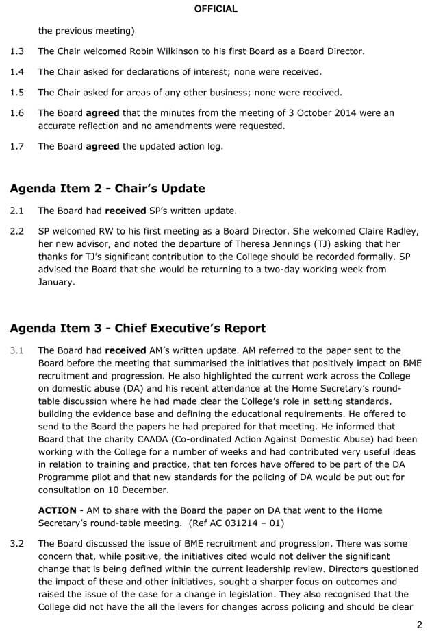 First Board Meeting Agenda