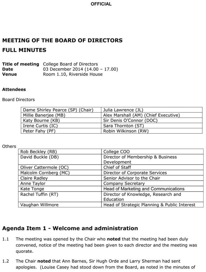 Board Meeting Agenda Templates Guidelines And Helpful Tips