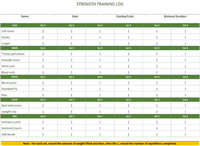 5 workout log templates to keep track your workout plan fitness log template for word maxwellsz