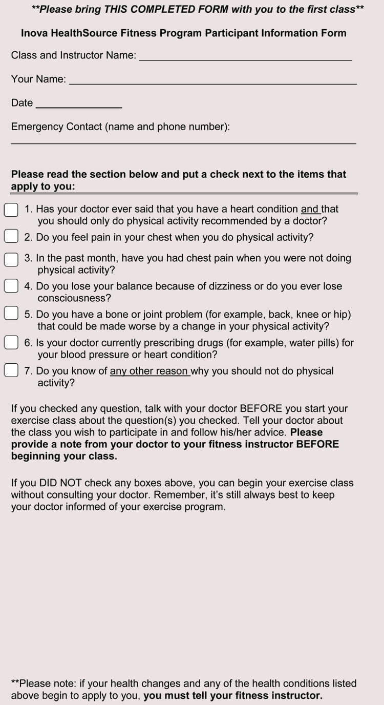 11 Sample Medical Waiver Forms Generic Child Employee