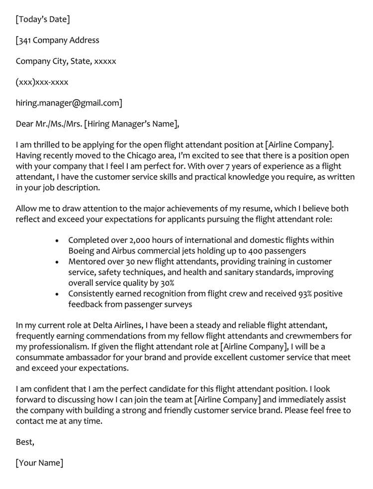 Flight-Attendant-Cover-Letter-Sample Template Cover Letter For Career Change Flight Attendant Example Vyxn on