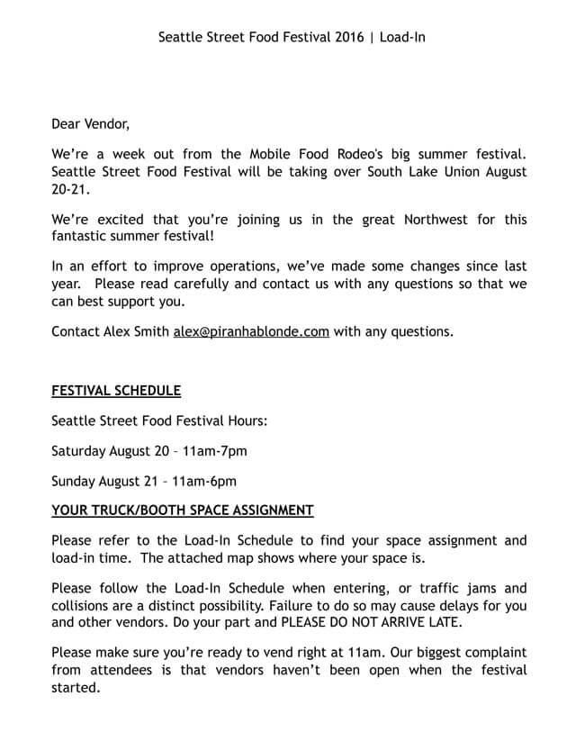 Food Festival Planning
