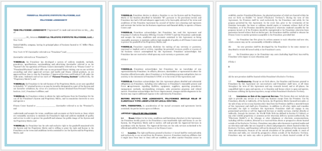 Franchise Agreement Template | 5 Franchise Agreement Templates To Write A Perfect Agreement