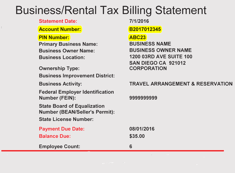 template for billing statement
