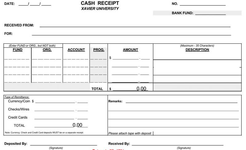 Free Cash Receipt
