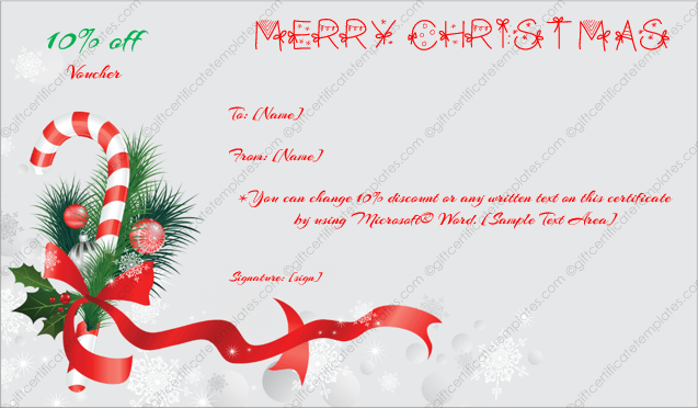 Free Christmas Gift Template Editable