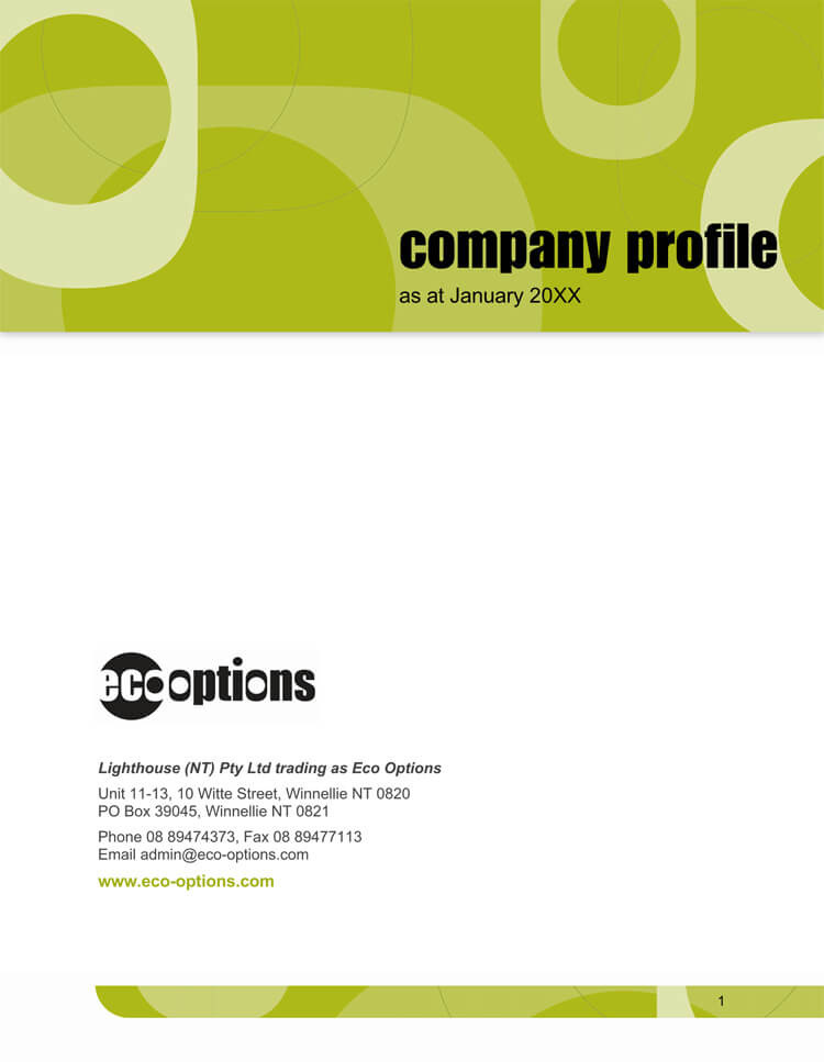 20 company business profile templates for word illustrator