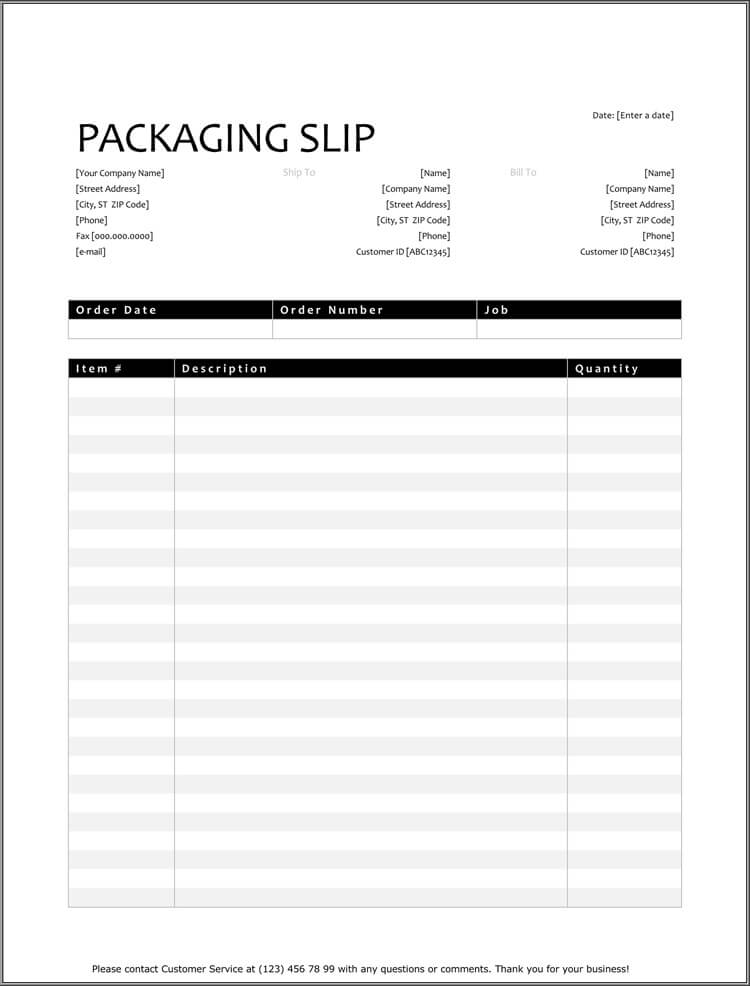 25  free shipping  u0026 packing slip templates  for word  u0026 excel