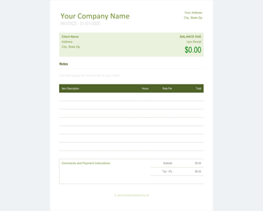 proforma invoice sample word