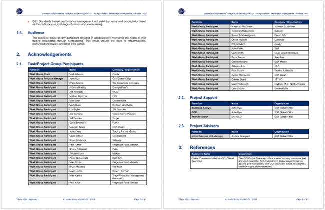 Functional Requirements Analysis Template For PDF