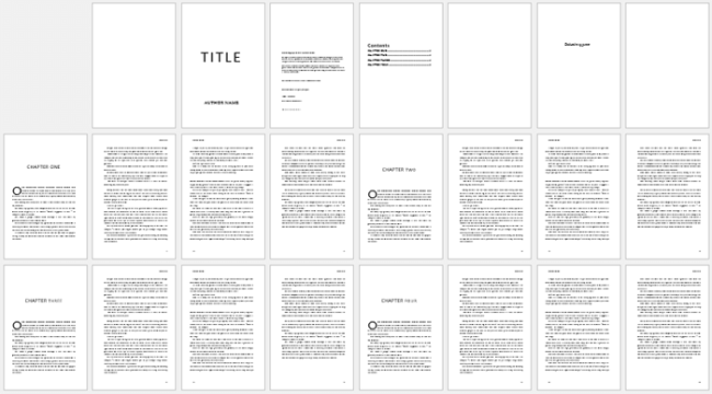 General Book Template For Word In Book Template Word