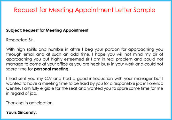 Company appointment letters 20 samples examples formats general meeting appointment letter sample spiritdancerdesigns