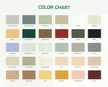 General Paint Color Chart