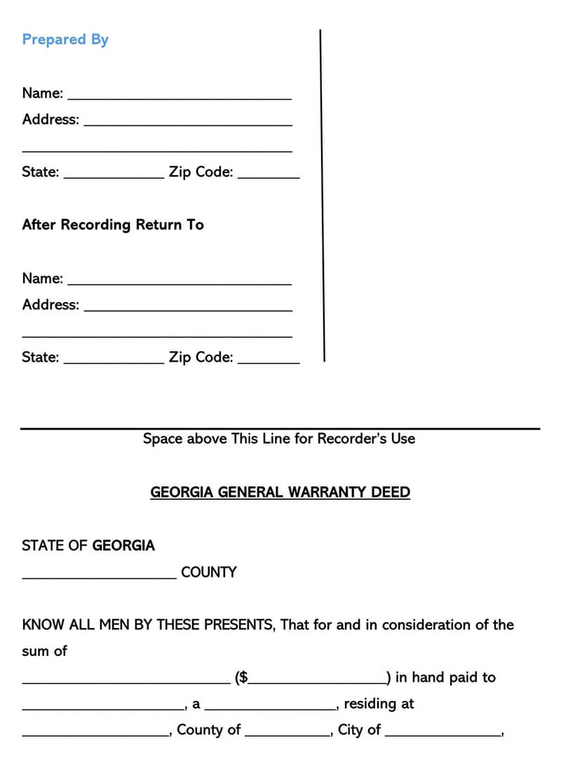 Georgia Warranty Deed Form