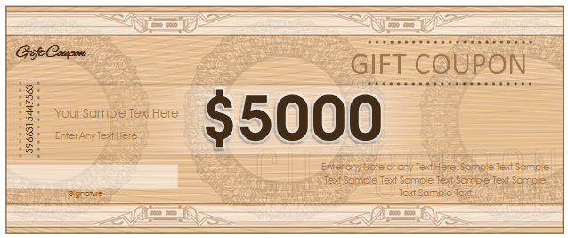 Gift Coupon Template for Microsoft® Word