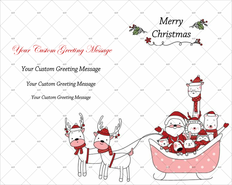 Greeting card template for Christmas