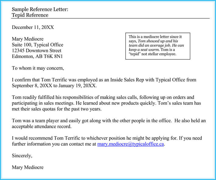 Human Resource Reference Letter