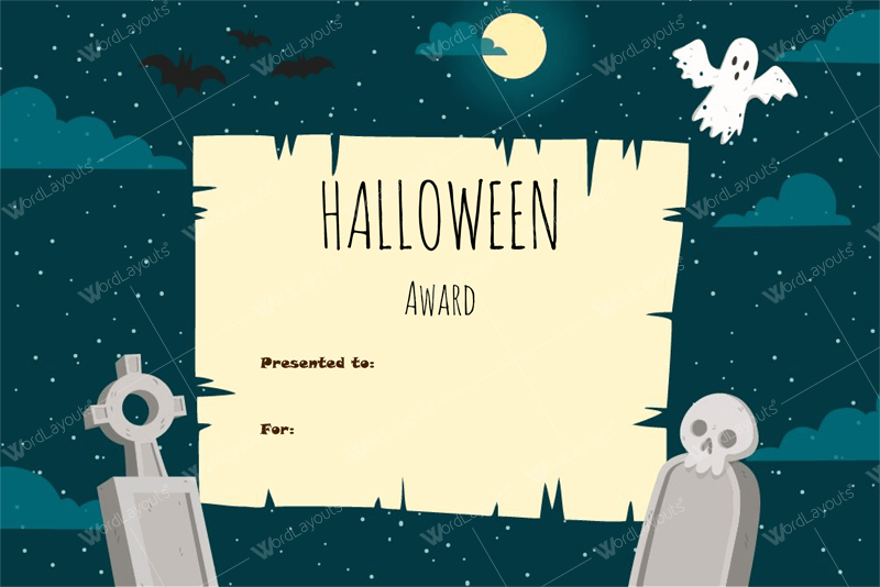 Halloween Award Certificate Templates Word
