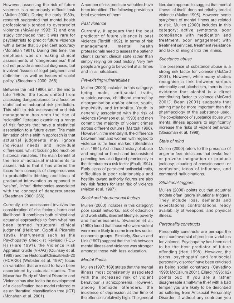 Health Risk Assessment Sample