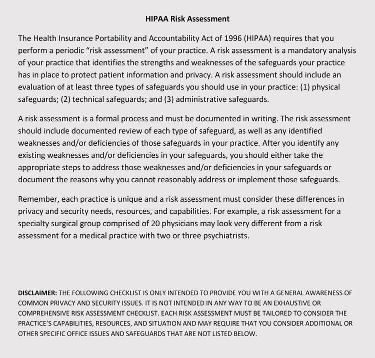 Hipaa Risk Assessment pdf