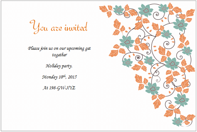 Holiday Wedding Invitation templates
