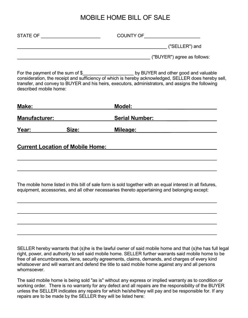 Horse Bill of Sale Form 05