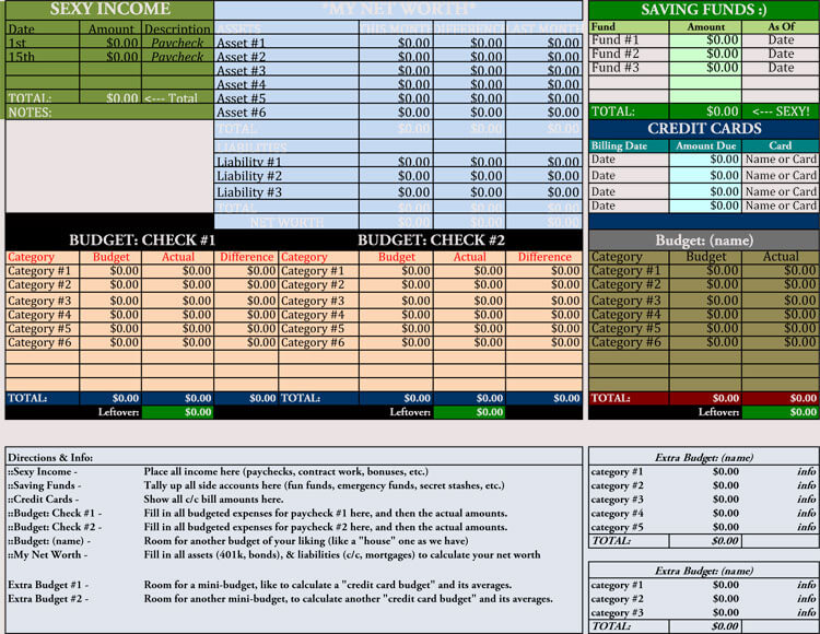 12 Household Budget Worksheet Templates Excel Easy Budgets