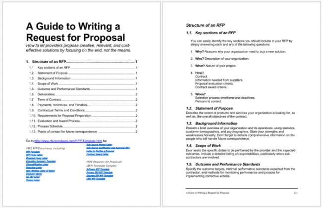 4  rfp templates to write a great request for proposal