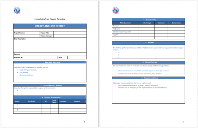 5 impact analysis templates for word excel and pdf for Software problem report template