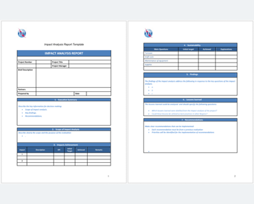 Impact Analysis Templates (Featured)